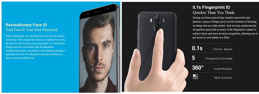 Ulefone Power 3 finger print face id