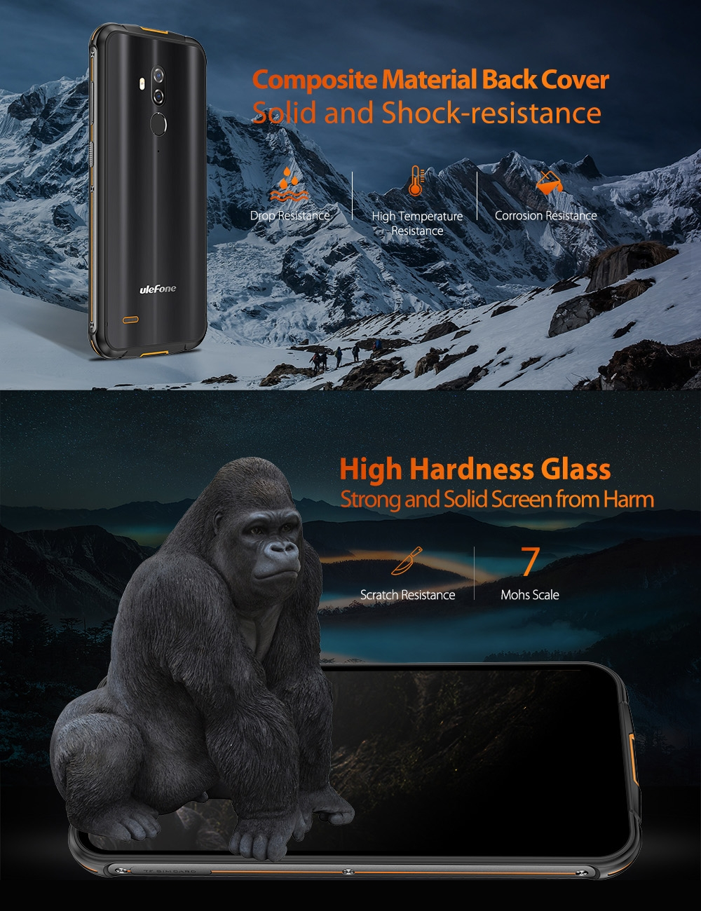 Ulefone Armor 5S Gorilla Glass  displej